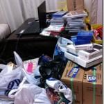 平日の仕入れはいつも部屋が散らかります